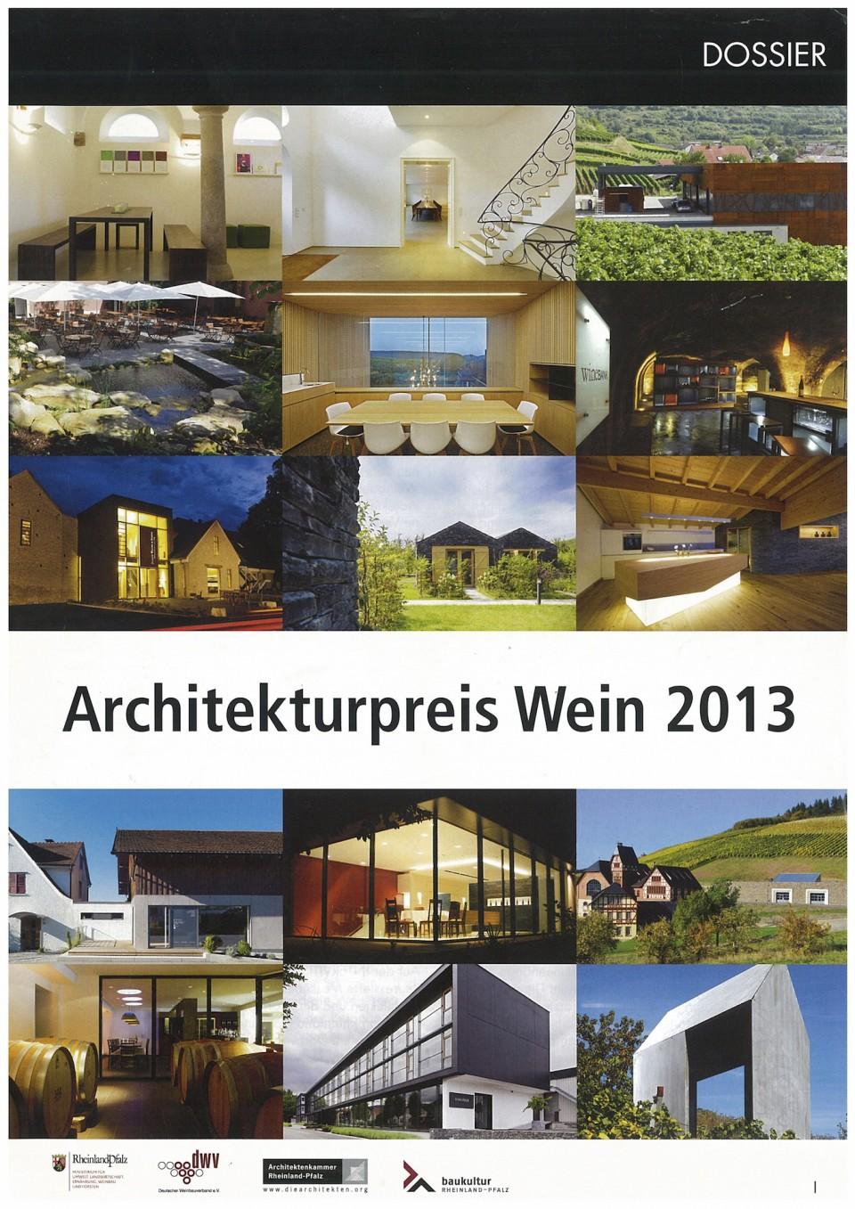 Das Weinberghaus beim Architekturpreis Wein